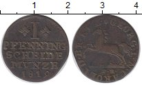 Изображение Монеты Германия Брауншвайг 1 пфенниг 1819 Медь XF-