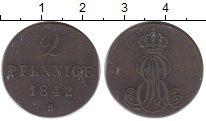 Изображение Монеты Ганновер 2 пфеннига 1842 Медь XF