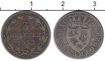 Изображение Монеты Германия Нассау 3 крейцера 1832 Серебро XF