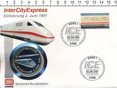 Изображение Подарочные монеты Германия Медаль 1991 Посеребрение Proof Немецкие железные до