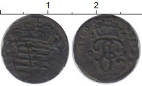 Изображение Монеты Германия Саксе-Кобург-Саалфельд 1 геллер 1724 Медь VF