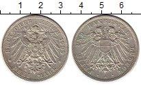 Изображение Монеты Германия Любек 3 марки 1909 Серебро XF-