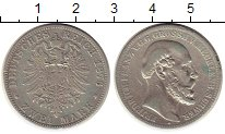 Изображение Монеты Германия Мекленбург-Шверин 2 марки 1876 Серебро XF-