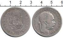 Изображение Монеты Венгрия 1 форинт 1890 Серебро VF
