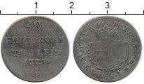 Изображение Монеты Австрия Бургау 1/48 талера 1773 Серебро VF