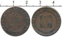 Изображение Монеты Германия Вестфалия 2 сантима 1812 Медь XF-