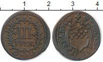 Изображение Монеты Германия Хамм 3 пфеннига 1736 Медь XF