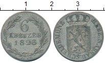 Изображение Монеты Германия Нассау 6 крейцеров 1823 Серебро VF