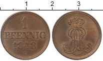Изображение Монеты Германия Ганновер 1 пфенниг 1848 Медь UNC-