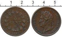 Изображение Монеты Франция 5 сантим 1843 Бронза XF