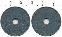 Изображение Монеты Франция Индокитай 1 цент 1941 Цинк XF+