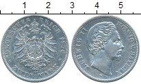Изображение Монеты Бавария 2 марки 1876 Серебро XF-