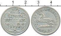 Изображение Монеты Германия Брауншвайг-Люнебург 1/12 талера 1752 Серебро XF+