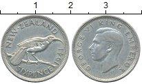 Изображение Монеты Новая Зеландия 6 пенсов 1941 Серебро XF+
