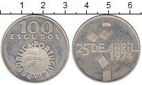 Изображение Монеты Португалия 100 эскудо 1974 Серебро UNC-
