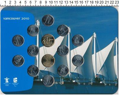Изображение Подарочные монеты Канада Ванкувер 2010 0  UNC `Набор  посвящен Зим