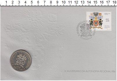 Изображение Монеты Португалия 100 эскудо 1986 Медно-никель UNC Букет цветов