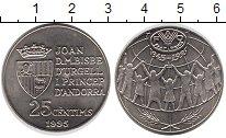 Изображение Монеты Андорра 25 сантим 1995 Медно-никель UNC-