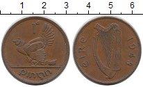 Изображение Монеты Ирландия 1 пенни 1944 Бронза XF