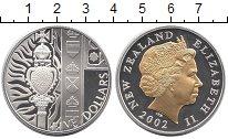 Изображение Монеты Новая Зеландия 5 долларов 2002 Серебро Proof