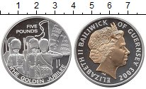 Изображение Монеты Гернси 5 фунтов 2003 Серебро Proof