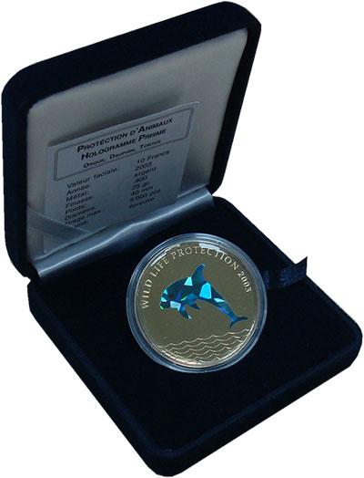 """Изображение Подарочные монеты Конго 10 франков 2003 Серебро Proof <div><font face=""""ari"""
