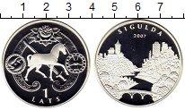 Изображение Монеты Латвия 1 лат 2007 Серебро Proof-