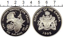 Изображение Монеты Гамбия 20 даласи 1995 Серебро Proof