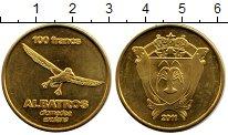Изображение Мелочь Франция Остров Амстердам и Сант Поль 100 франков 2011 Латунь XF