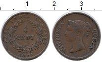 Изображение Монеты Великобритания Стрейтс-Сеттльмент 1/4 цента 1845 Медь XF