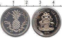 Изображение Монеты Багамские острова 5 центов 1974 Медно-никель Proof-