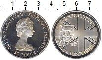 Изображение Монеты Великобритания Фолклендские острова 50 пенсов 1982 Серебро Proof-