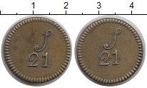Изображение Монеты Гвинея 21 шиллинг 0 Латунь XF