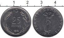 Изображение Монеты Турция 25 куруш 1973 Сталь XF