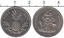 Изображение Монеты Багамские острова 5 центов 2004 Медно-никель XF