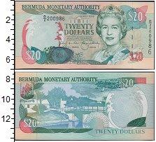 Изображение Банкноты Великобритания Бермудские острова 20 долларов 2000  UNC