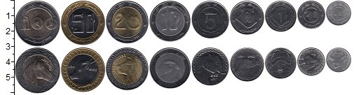 Изображение Наборы монет Алжир Набор 1992-2011 годов 0  UNC- Набор из девяти моне