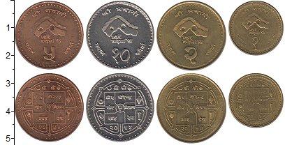 Изображение Наборы монет Непал Визит в Непал - 98 1997  XF Набор состоит из чет