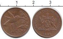 Изображение Монеты Тринидад и Тобаго 5 центов 1991 Медь XF