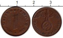 Изображение Монеты Третий Рейх 1 пфенниг 1937 Медь XF