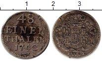 Изображение Монеты Германия Саксония 1/48 талера 1740 Серебро XF