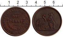 Изображение Монеты Австралия 1/2 пенни 1855 Медь XF