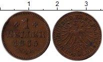 Изображение Монеты Германия Франкфурт 1 геллер 1865 Медь XF