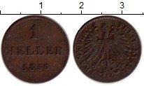 Изображение Монеты Франкфурт 1 геллер 1856 Медь XF-