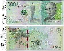 Изображение Банкноты Колумбия 100 песо 2014  UNC