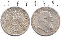 Изображение Монеты Германия Вюртемберг 3 марки 1913 Серебро UNC-