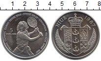 Монета Ниуэ 5 долларов Медно-никель 1987 UNC- фото
