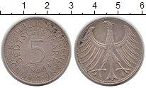 Изображение Монеты Германия ФРГ 5 марок 1966 Серебро XF