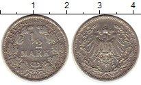 Изображение Монеты Германия 1/2 марки 1907 Серебро XF