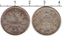 Изображение Монеты Германия 1/2 марки 1909 Серебро XF